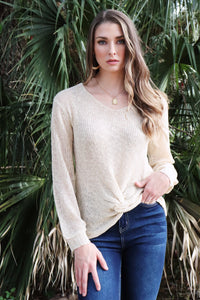 Halifax Twist Knit Top