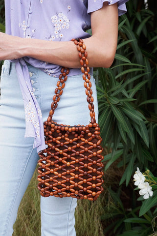 Wooden Bead Bag