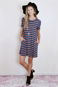 Stripe Game-day Dress (Multiple Colors)