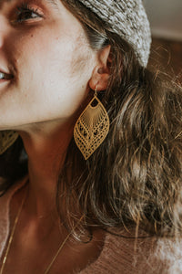 Laser Cut Filigree Earrings