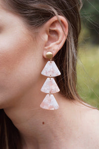Frosted Acrylic Trapezoid Earrings