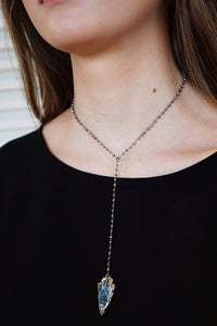 Lariat Arrow Necklace (Multiple Colors)