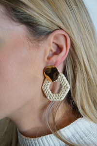 Woven Straw Earrings (Multiple Styles)