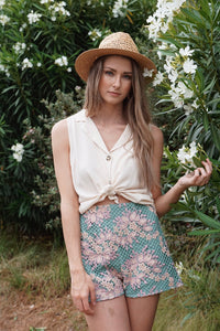 Chania Embroidered Shorts