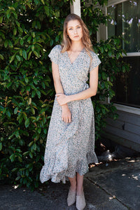 Sancerre Sage Floral Maxi Dress