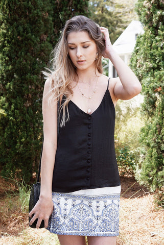 Cali Button Up Tank Top