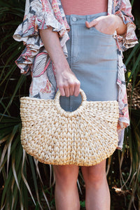 Scallop Straw Bag