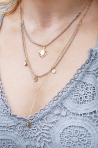 Sun & Disc Layer Necklace