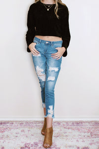 Dream Mid-Rise Tear Denim (Multiple Colors)