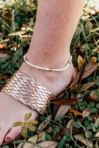 Pearl & Copper Beaded Anklet