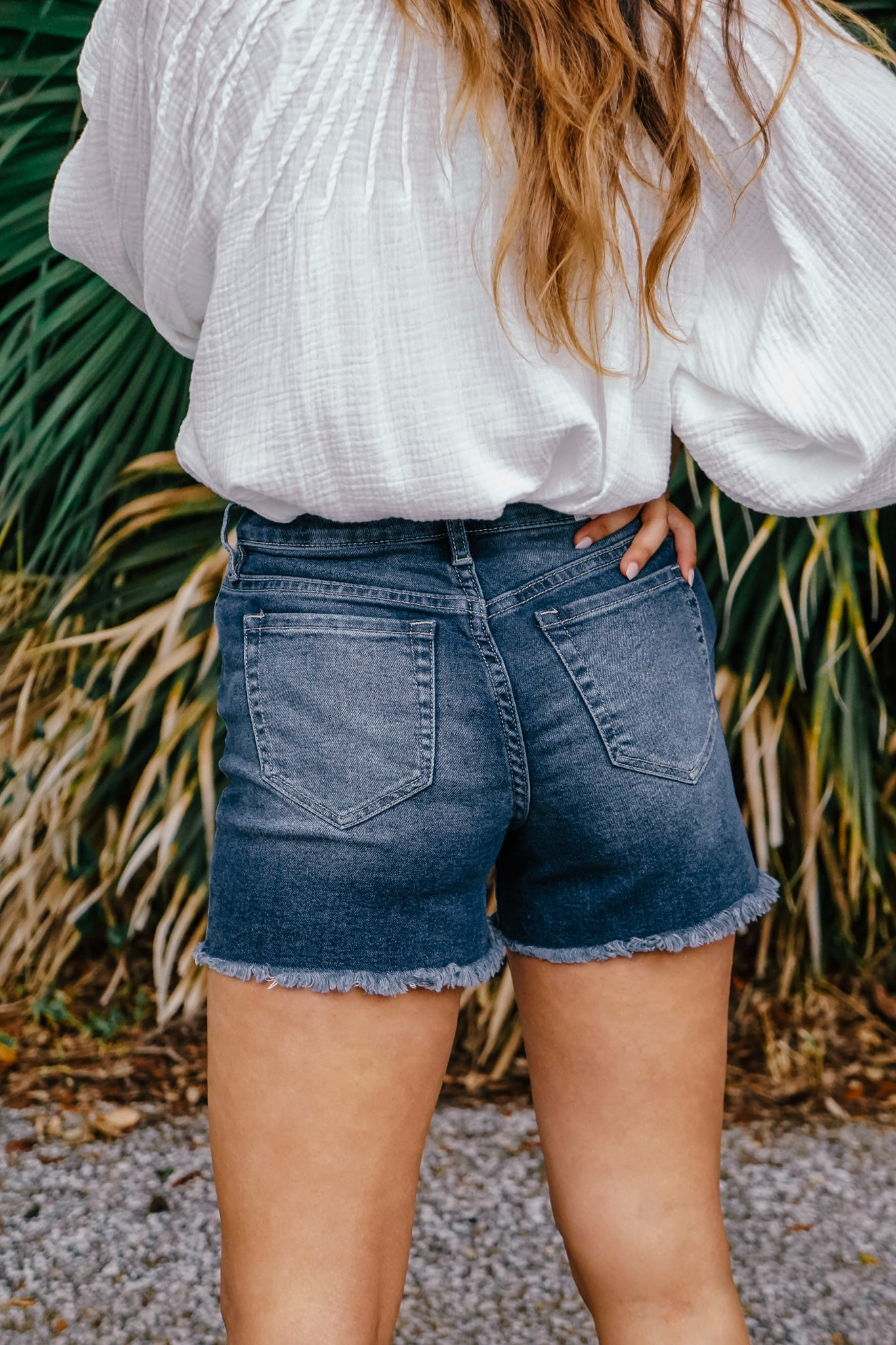 Vintage Dream Fray Hem Shorts