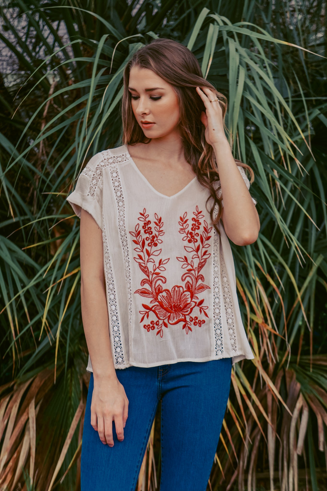 Siesta Key Embroidered Top