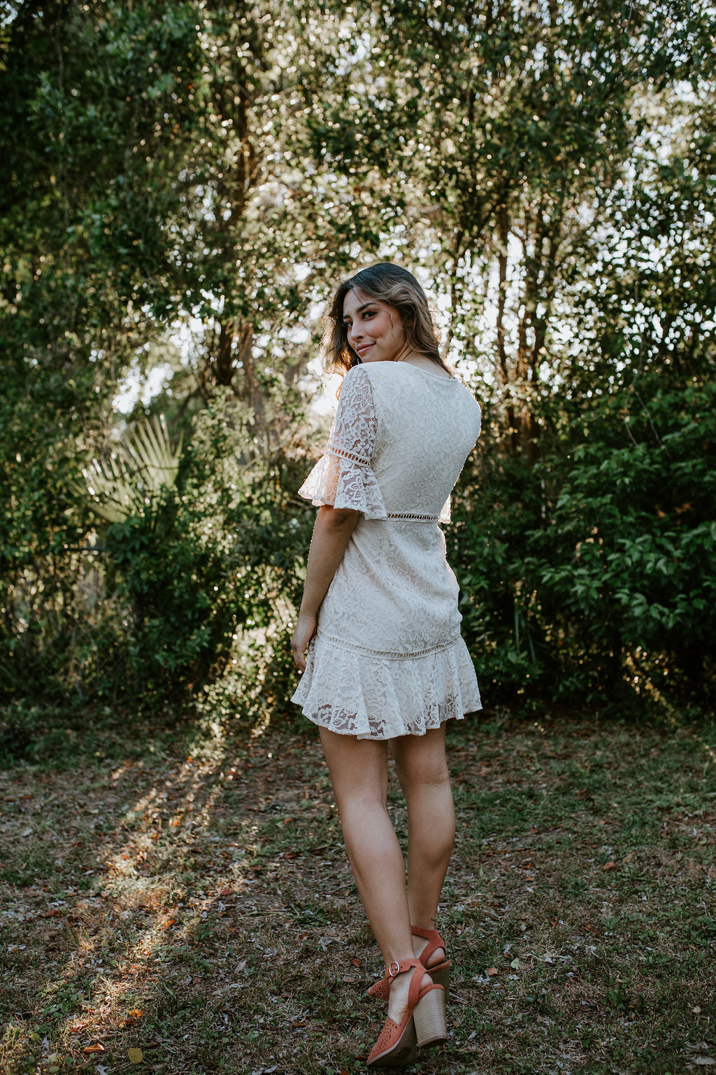 St.Augustine Cream Lace Dress