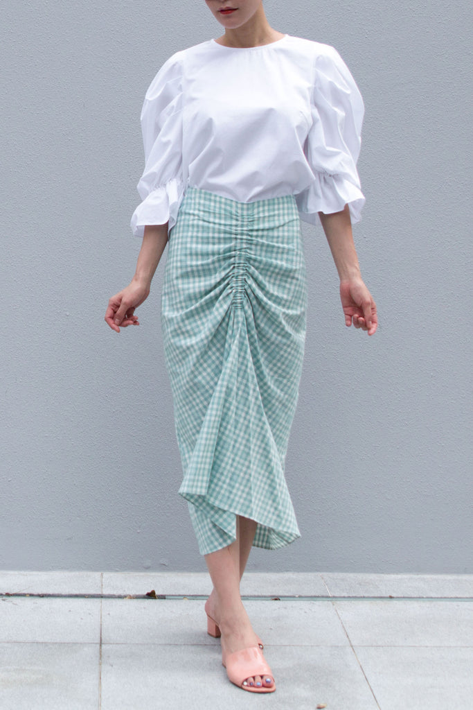 Ruben Gingham Skirt