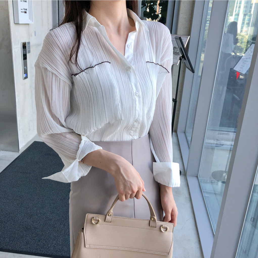 Denise Pleated Blouse