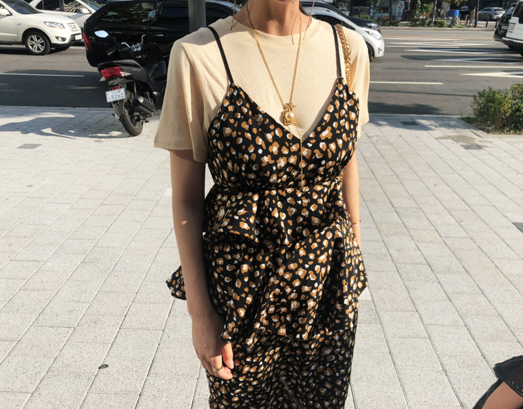 Gabin leopard dress