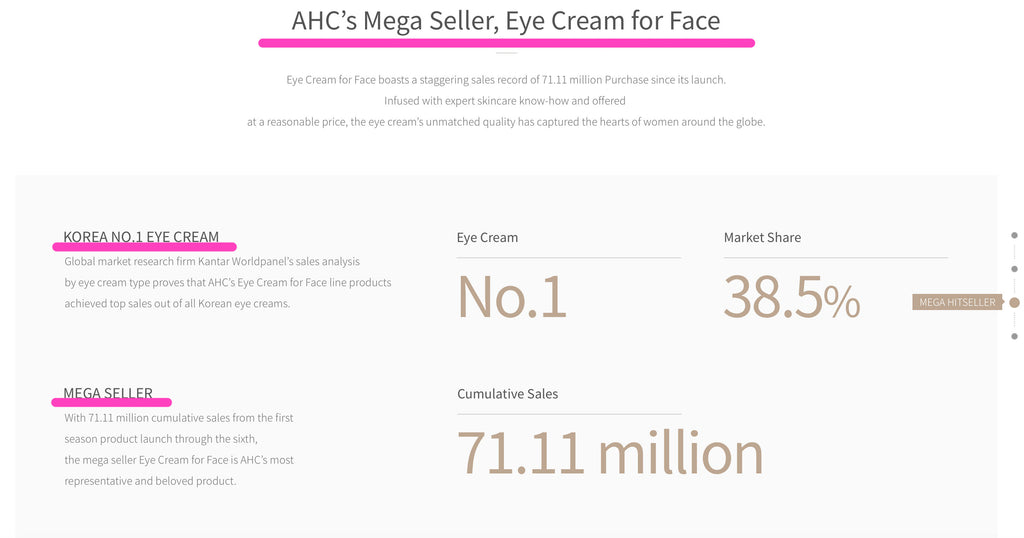 AHC Private Eye Cream Gold Duo Set (30ml X 2 tubes)