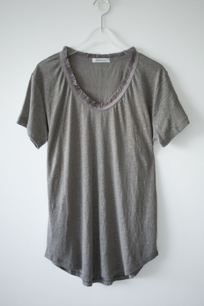 Short Sleeve Fringe T-shirt