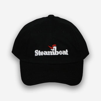 Steamboat Logo Hat- Black