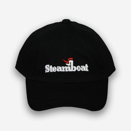 Steamboat Logo Hat- Black - 5 colors