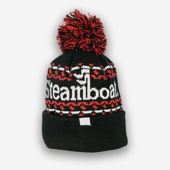 Black and Red Steamboat Beanie