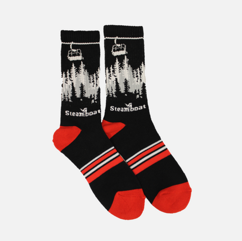 Black Gondola Sock