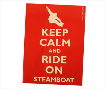 Steamboat Snowboarder Sticker