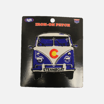 VW Bus Steamboat Logo Iron-on Patch