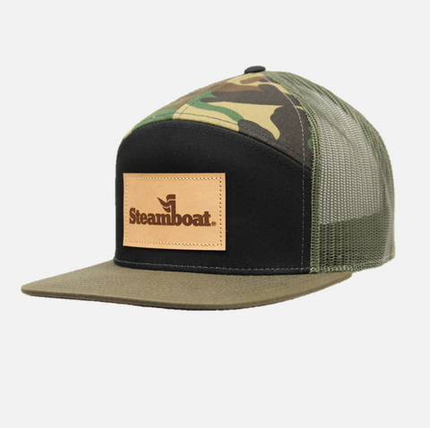 7 Panel Steamboat Trucker Hat