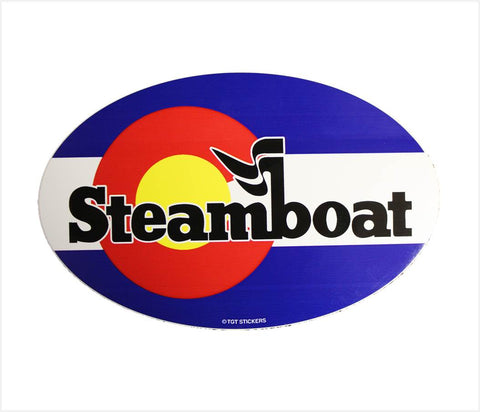 Official Steamboat Colorado Flag Sticker