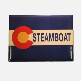 Colorado Flag Steamboat Magnet