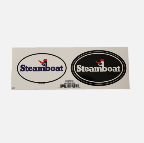Official Steamboat Double Logo Sticker