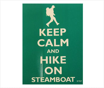 Steamboat Hiker Sticker