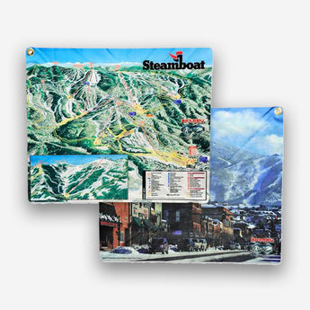 Official Steamboat Logo Spanky Lens Cloth & Trail Map