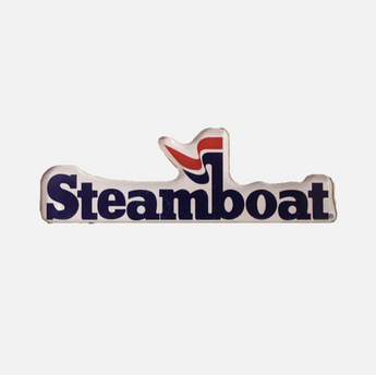 3D Official Steamboat Logo Magnet
