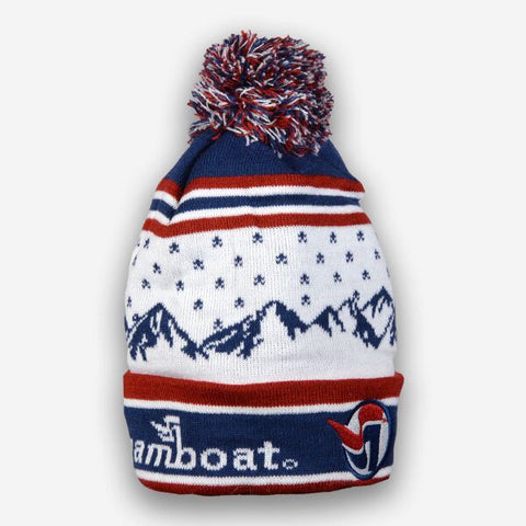 Snow Mountain Beanie with Steamboat Logo