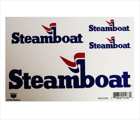 Official Steamboat Logo Sticker Multi-pack