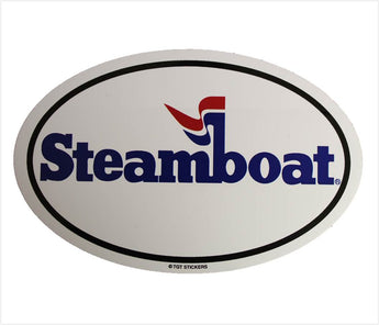 Official Steamboat Oval Sticker