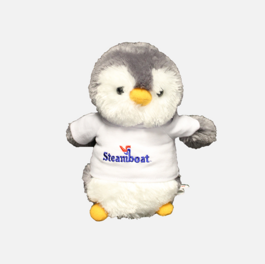 Penguin with Official Steamboat Logo Hoodie