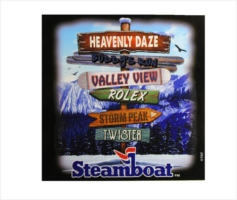 Steamboat Trail Name Sticker