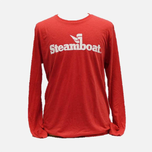 Official Steamboat Logo Tri Blend L/S Tee