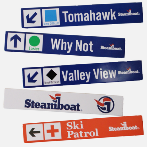 Steamboat Replica Trail Sign Magnets - 7 options