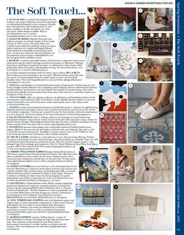 """Scan of """"The Soft Touch"""" Advertorial in House & Garden UK Magazine March 2021"""