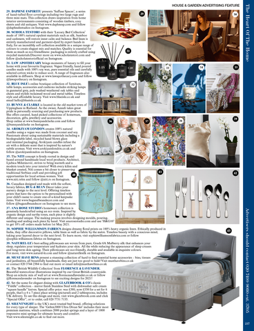 """Scan of """"The Heart of the Home"""" Advertorial in House & Garden UK Magazine April 2021"""