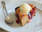 Summer to Fall Plum Cake from Once Upon A Chef