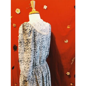 Vintage-1980's-Rose-Lace-Dress