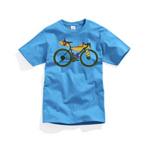 """ Young guns"" bikepacking T-shirts!"