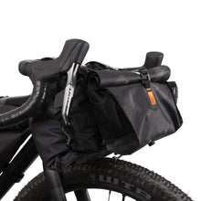 "Load image into Gallery viewer, ""PRE ORDER"" XTOURING Handlebar Harness Black + DRY Bag + Add-on pack DRY Bundle cyber-camo Diamond black ""PRE ORDER"""