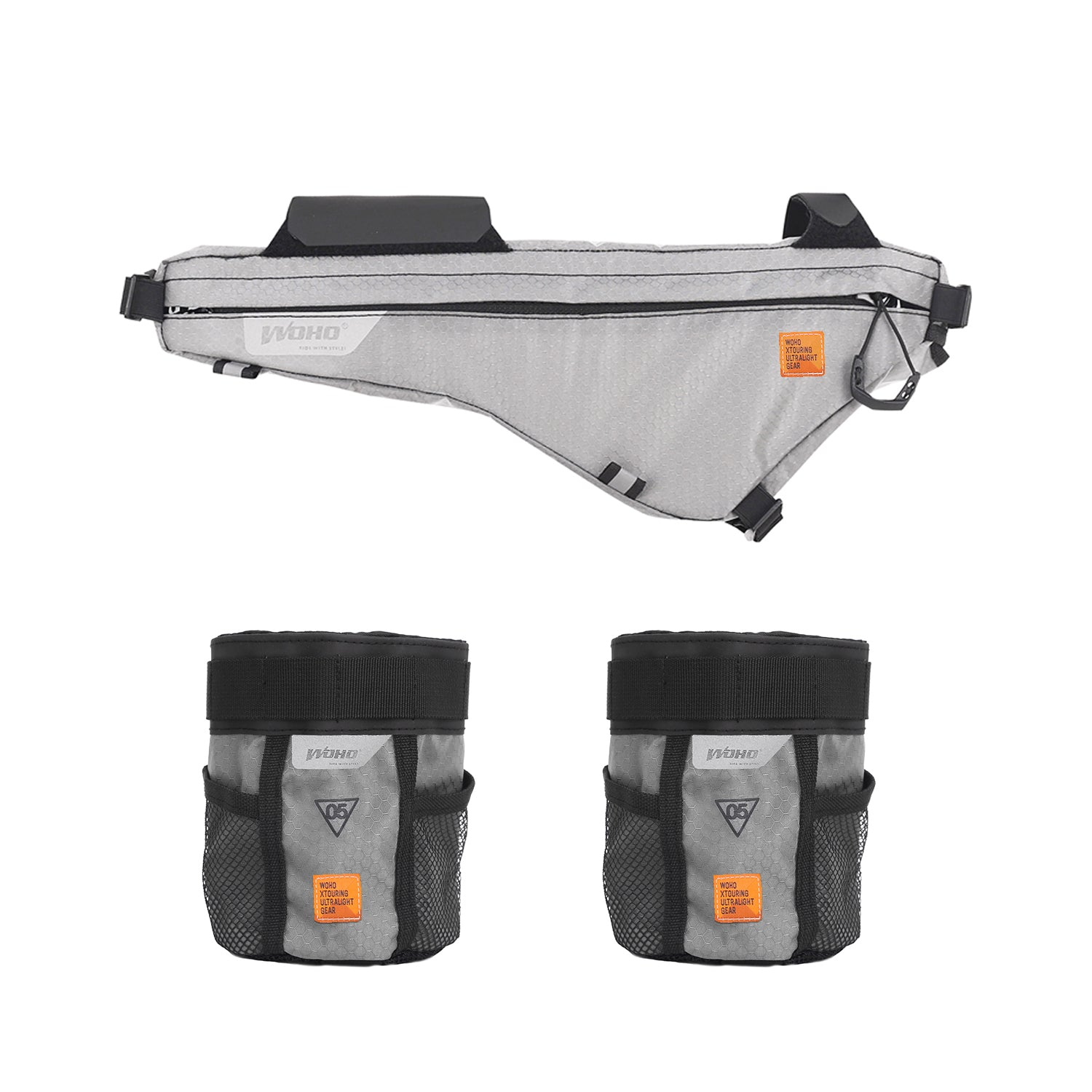 XTOURING Frame Bag + Almighty Cup Bundle Iron Grey