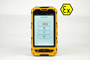 Life Tel 4 Ex -Ex protection smartphone for ATEX Zone 1/21 with dead man's app